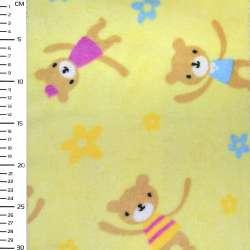 Велсофт-махра желтая медвежата ш.170