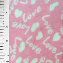 Велсофт-махра розовая LOVE ш.170