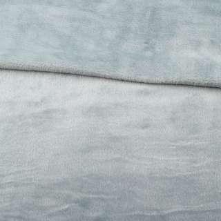 Велсофт двухсторонний серо-голубой светлый, ш.180