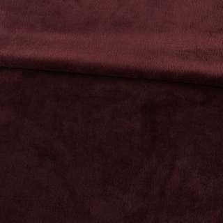Велсофт двосторонній коричневий темний каштановий, ш.220