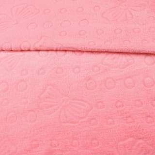 Велсофт двосторонній з тисненням метелики рожевий, ш.185