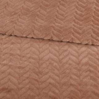 Велсофт двосторонній з тисненням ялинка коричневий світлий ш.200