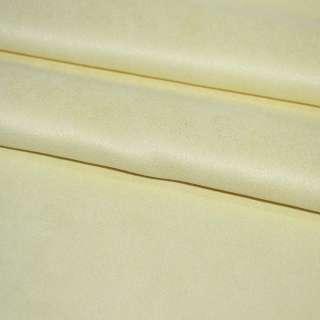 Замша искусственная желтая, ш.130