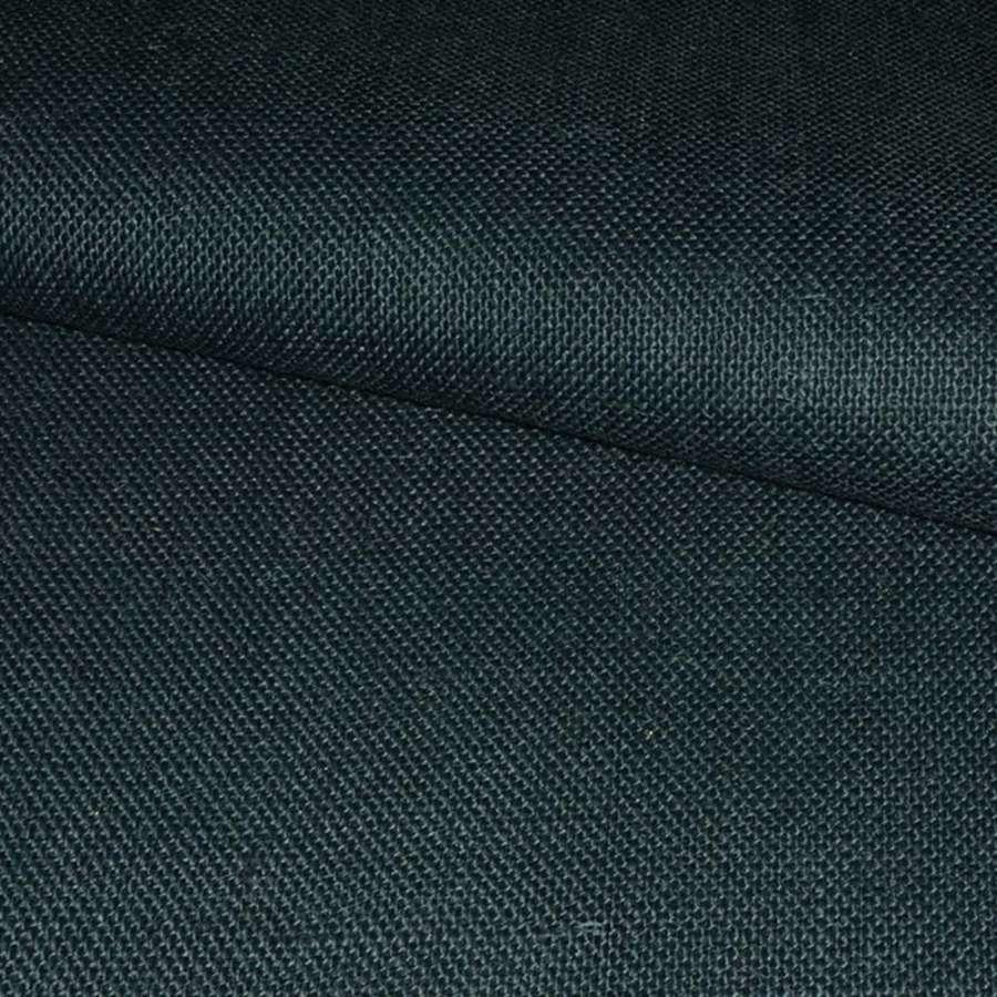 Портьерн рогожка синий