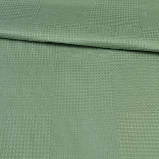 Рогожка деко зелена в вафельну клітку, ш.145