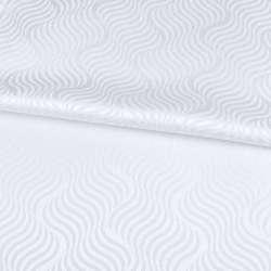 Жаккард скатертный волны белый, ш.320