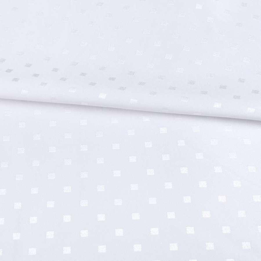 Жаккард скатерковий квадратики білий, ш.320