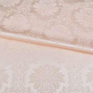 жаккард скатертный вензеля персиковый светлый, ш.320