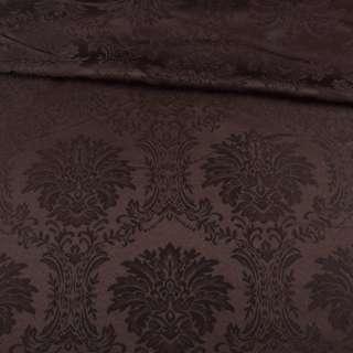 жаккард скатертный вензеля коричневый, ш.320