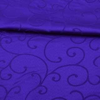 Жаккард скатертный завитки синий ультра, ш.320