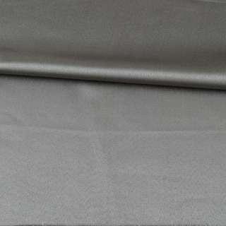 Скатертная ткань с атласным блеском серая, ш.310