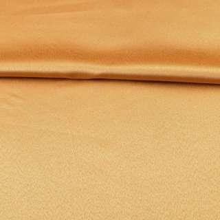 Тканина скатеркова золотисто-жовта з атласним блиском, ш.320