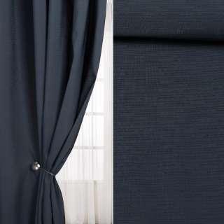 Лен интерьерный штрихи мелкие синий темный (берлинская лазурь), ш.290
