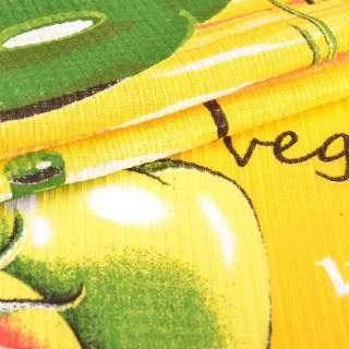 тканину полотен. вафельная набивши. жовта овочі, ш.40