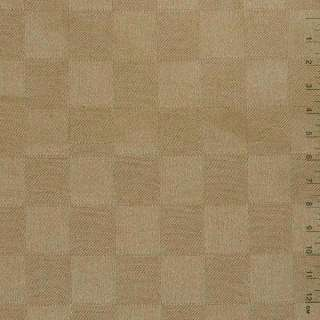 "Ткань скатерная светло-коричневая ""шахматка"", ш.140"