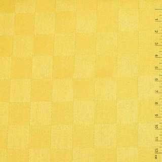 """Ткань скатерная ярко-желтая """"шахматка"""", ш.140"""