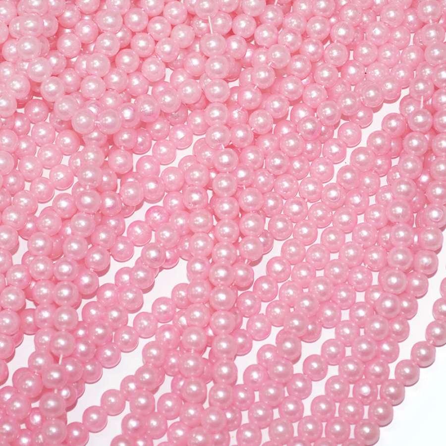бусина нежно-розовая