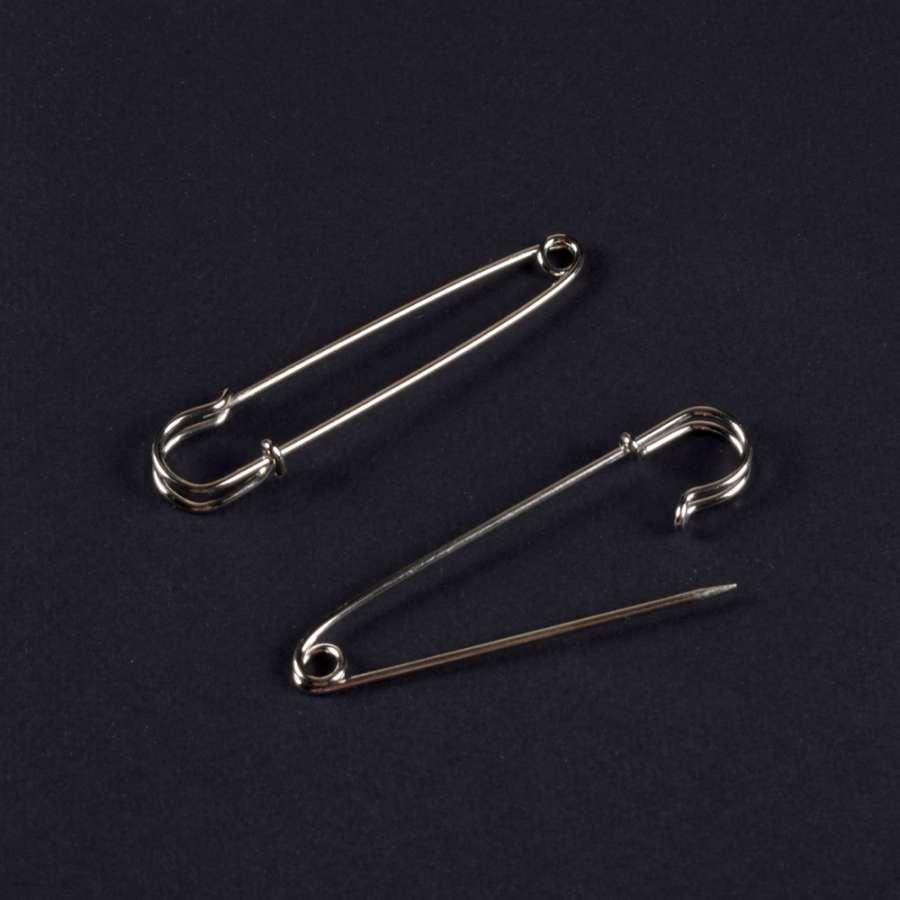 Булавка декоративная 75 мм серебристая (1шт)