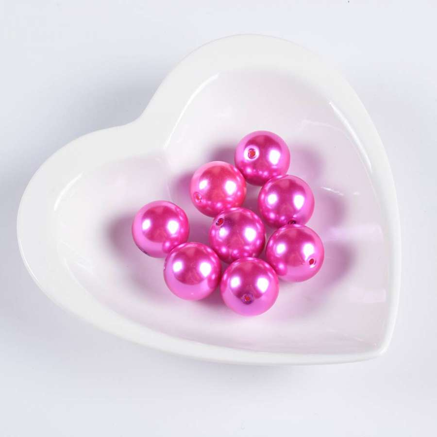 Бусина под жемчуг розовая 20мм (цена за 1г)