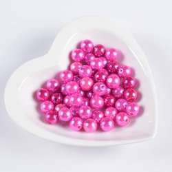 Бусина под жемчуг розовая 12мм (цена за 1г)