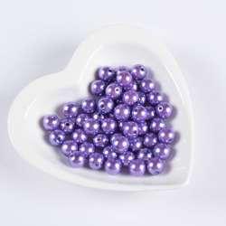 Бусина под жемчуг фиолетовая 12мм (цена за 1г)