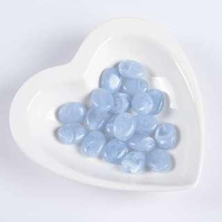 Бусина акрил голубая 15х20мм (цена за 1г)