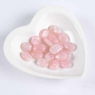 Бусина акрилова мармур рожева 15х20мм (ціна за 1 г)