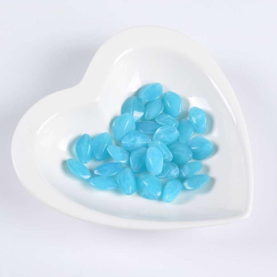 Бусина акрил голубая 13х16мм (цена за 1г)