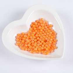 Бусина граненая оранжевая 6мм (цена за 1г)