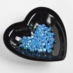 Бусина под хрусталь голубая 8мм (цена за 1г)