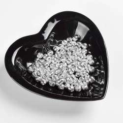 Бусина пластик под металл кргулая рифленая 8мм серебристая (цена за 1г)