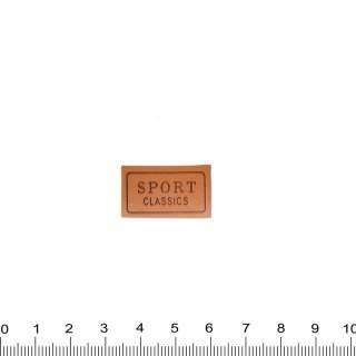 нашивка шкіряна SPORT CLASSIC, 1,5х2,5см