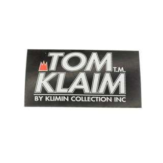 Етикетка паперова Том Клайм 50х100мм чорна з білим