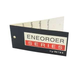 Етикетка паперова подвійна Енеороер 90х45мм чорна з червоним