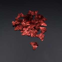 Пайетка бабочка 33х18мм 1 упаковка 4г=50шт красная