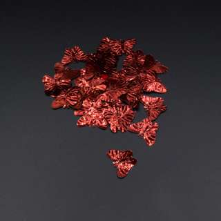 Паєтками метелик 33х18мм 1 упаковка 4г = 50шт червона
