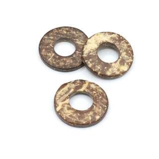 Пришивной декор кокос кольцо 25 мм