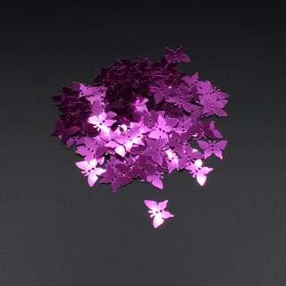 Паєтками метелик 17х13мм 1 упаковка 5г = 100шт рожеві фуксія
