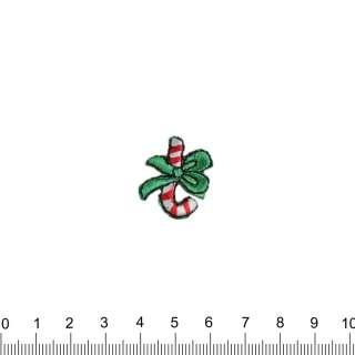 аплікація Новорічний льодяник з бантиком, вишивка, 2х2,5см