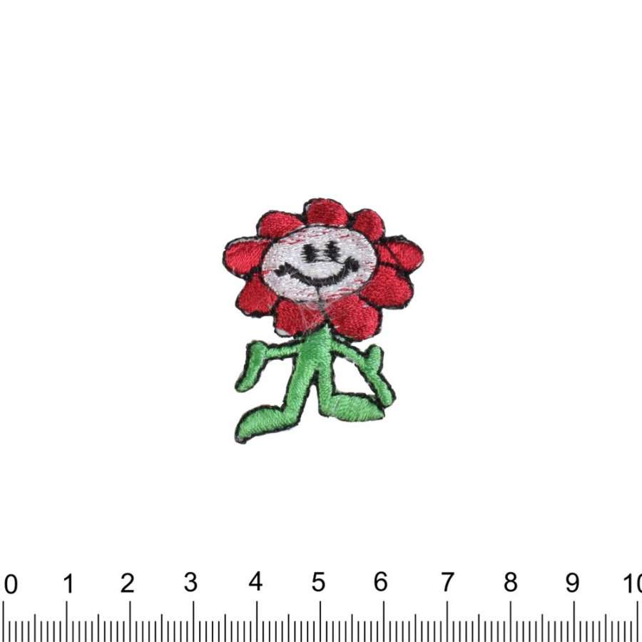 Термоаппликация Цветок смайлик 30х40см