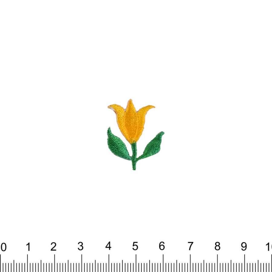 Термоаппликация Тюльпан 25х25мм желтый