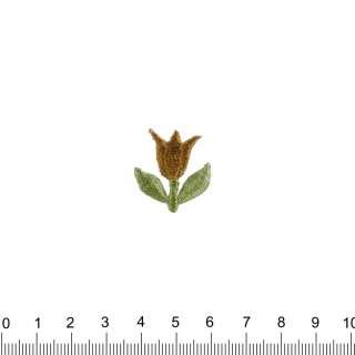 аплікація Тюльпан коричневий, вишивка, 2,5х2,5см