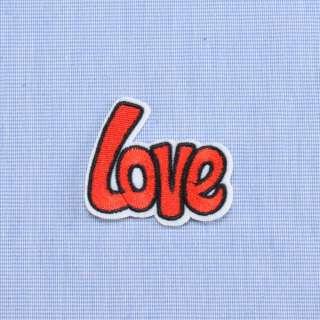 Аплікація клейова LOVE червона, 55х45мм