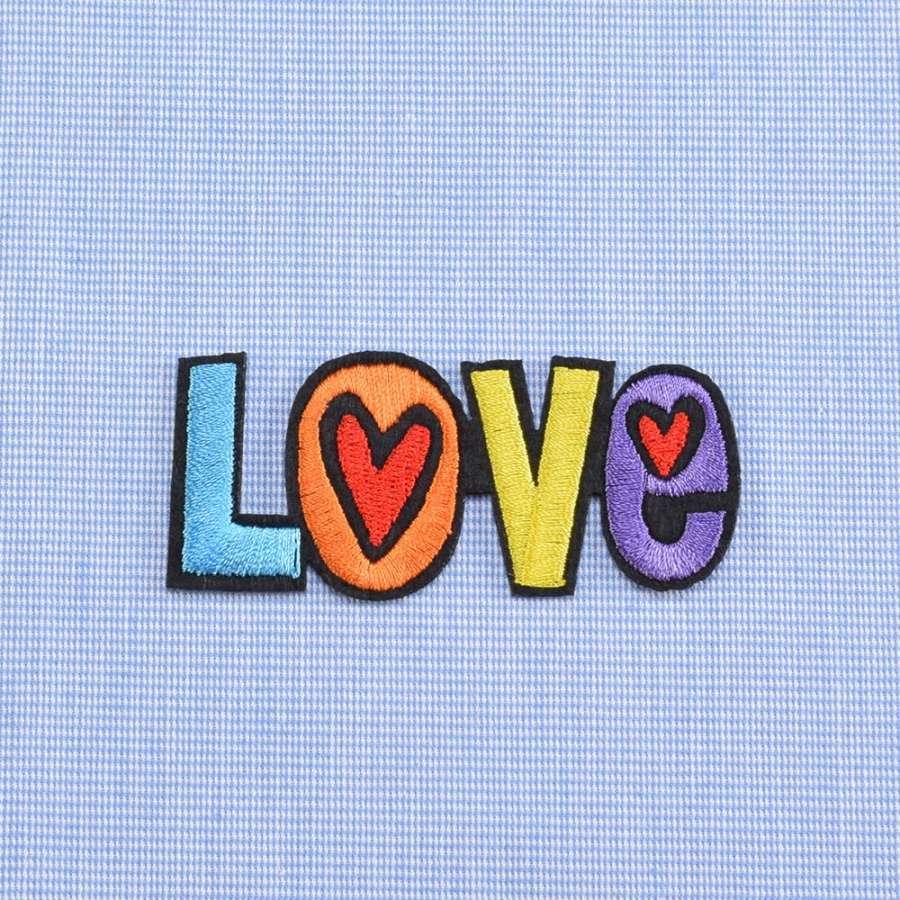 Аппликация клеевая LOVE разноцветная, 75х30мм