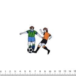аппликация 2 футболиста, вышивка, 6х7см