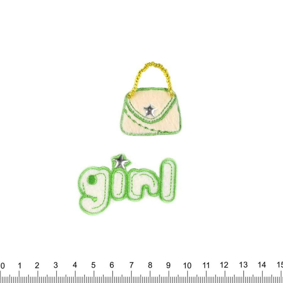 Термоаппликация GIRL+сумочка 55х80мм