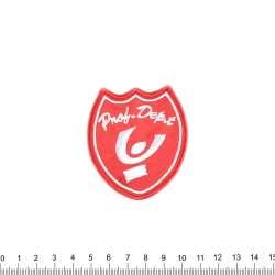 аппликация PNOB DEPT красная, вышивка, 6,5х5,5см