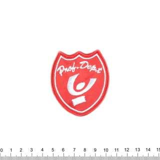 Нашивка PNOB DEPT 65х55мм червона