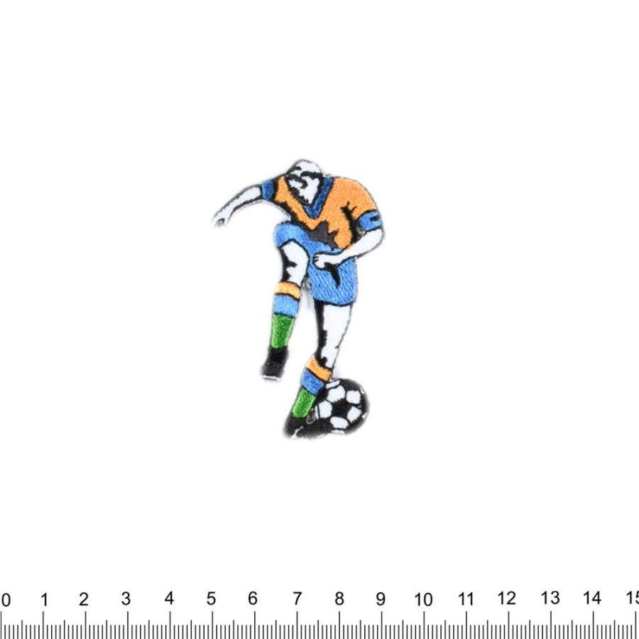 Термоаппликация Футболист GOLD ZACK 60х45мм