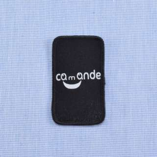 Аппликация COMANDE черная, 45х30мм